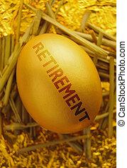 Retirement nest egg  - Pension gold nest egg fund