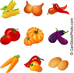 vegetables - Vector illustration - set of vegetables