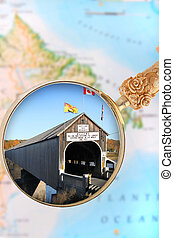 Hartland, New Brunswick - Magnifying glass or loop looking...