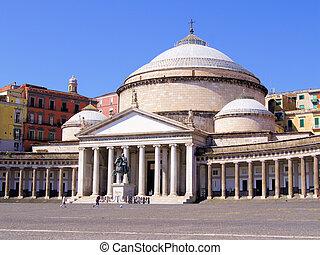 Piazza del Plebiscito, Naples - Historic public square,...