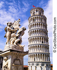 Leaning Tower of Pisa - Famous Leaning Tower of Pisa and...