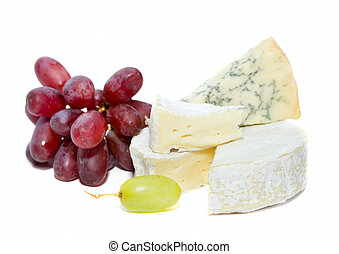 Cheese board - Nice tasty cheese board on a white