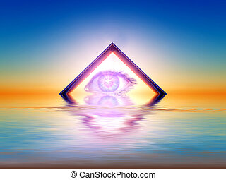 triangular view - a triangle with an eye inside