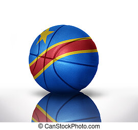 congolese basketball - basketball ball with the national...