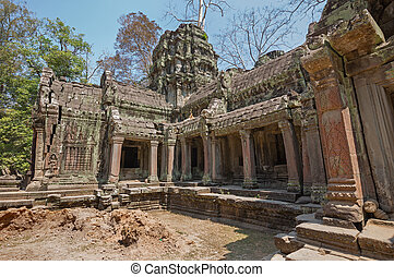 khmer empire temple - stone temple of ancient Khmer culture...