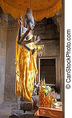 stone statue of Vishnu