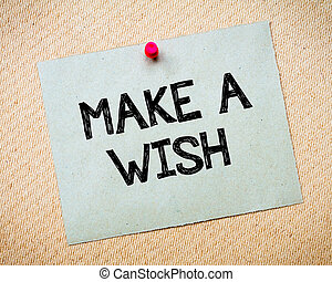 Make a Wish Message