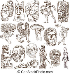 Native and Old Art - Hand drawings - OLD ART around the...