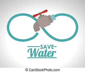 Save Water design, vector illustration