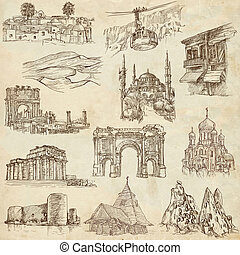 Architecture - hand drawn pack - From series: ARCHITECTURE...
