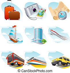 Travel icon - Vector illustration - travel icon set