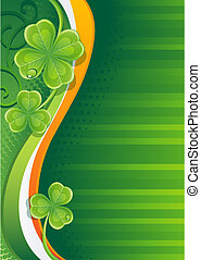 shamrock - Vector illustration - st. patrick\'s background