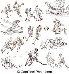 sport - hand drawn pack - From series: SPORT and sporting...