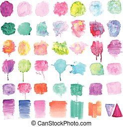 Watercolor Paint Backgrounds - A vector set of watercolor...