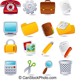 office icon - Vector illustration - office icon set