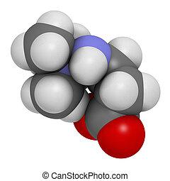 Meldonium anti-ischemic drug molecule. Used in treatment of...