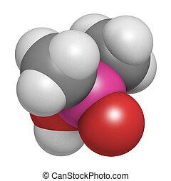 Cacodylic, ácido, herbicida, molécula, (Agent,...