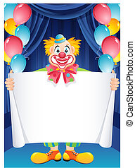 clown - Vector illustration - ginger clown