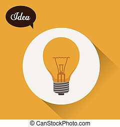 Idea design over yellow background