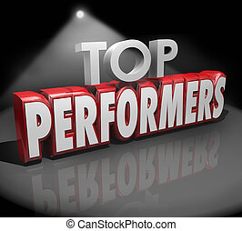 Top Performers Words Stage Recognize Best Workers...