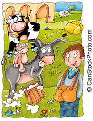 asino in fattoria