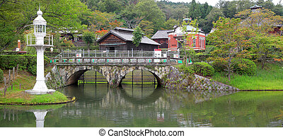 Historic Meiji mura in Japan - Nagoya, Japan - September 14:...