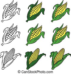 Corn Vector Set
