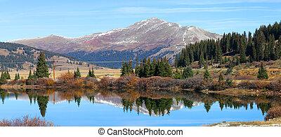 Scenic landscape in Colorado - Panoramic view of Scenic...