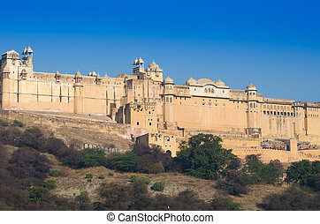 Landscape of Amber Fort in Jaipur, Rajasthan, India
