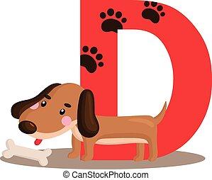 Alphabet D for Dog