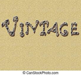 scritta vintage a mano fondo crema antico