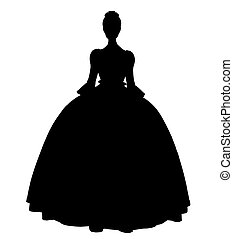 Cinderella Silhouette Illustration - Cinderella illustration...