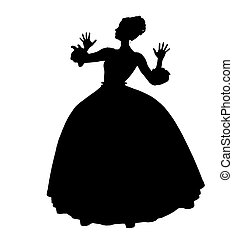Cinderella Silhouette Illustration