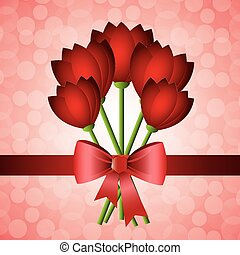 Mothers day card design, vector illustration