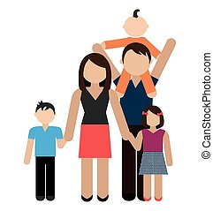 Family design, vector illustration. - Family design over...