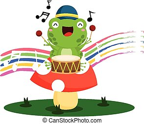 Drummer Frog