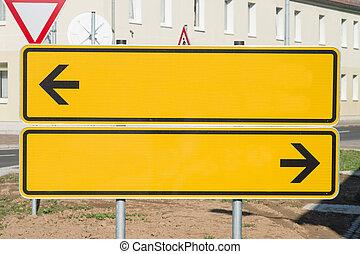 Signpost - empty road sign - Signpost