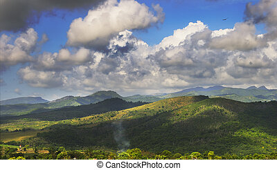 Mountains landscape - A view of rural tropical landscape...