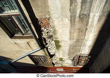 Old Tallinn house wall fragment