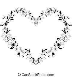 Spring time inspired heart shape