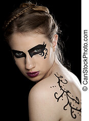 Women with fantasy make up