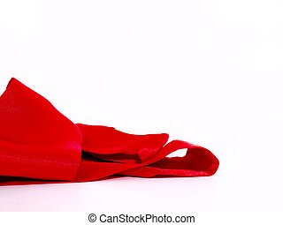 Red Scarf on White Backround