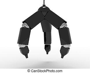 Metal Mechanical Hand on Chain