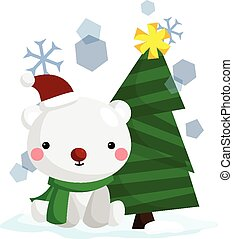 Polar Bear and Tree