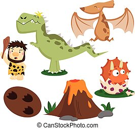 Prehistoric Vector Set