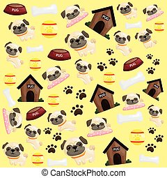 Pug Puppy Background