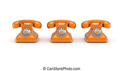 3d rendered retro telephone - 3d rendered retro telephone...