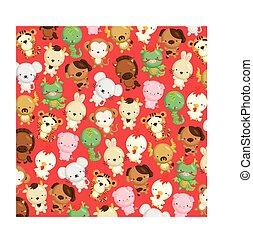 Zodiac Animal Background