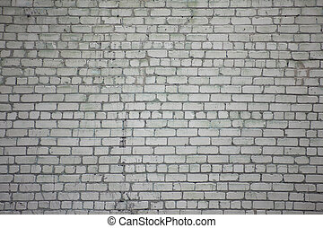 Brick wall of white brick - Brick wall of white sand-lime...