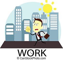 trabalhando,